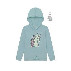 Nwt Sequin Unicorn Green Hoodie, Size 8